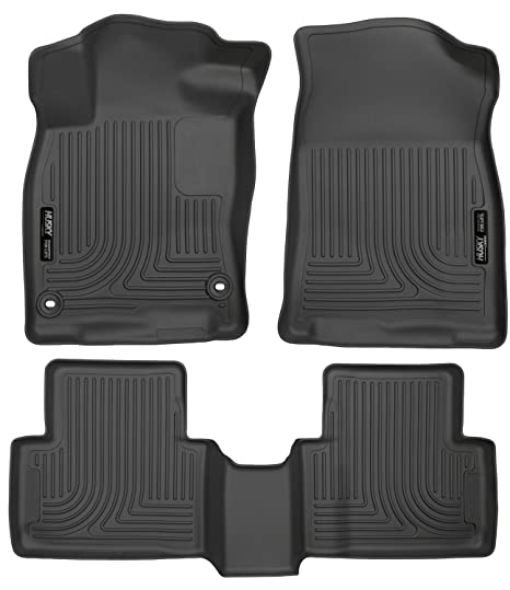 Husky Liners Fits 2016 19 Honda Civic Coupe Sedan 2016 18 Honda Civic Hatchback Weatherbeater Front 2nd Seat Floor Mats