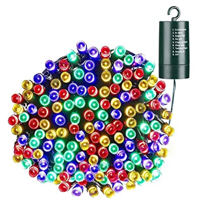 Toodour Battery String Lights, 68.9ft 200 LED String Lights with 8 Twinkle Modes, Timer, Waterproof Battery Operated String Lights for Home, Garden, Party, Holiday Decorations (Multicolor) : Garden & Outdoor