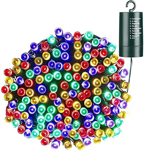 Toodour Battery String Lights,68.9ft 200 LED String Lights with 8 Twinkle Modes, Timer, Waterproof Battery Operated String Lights for Home, Garden, Party, Holiday Decorations Multicolor