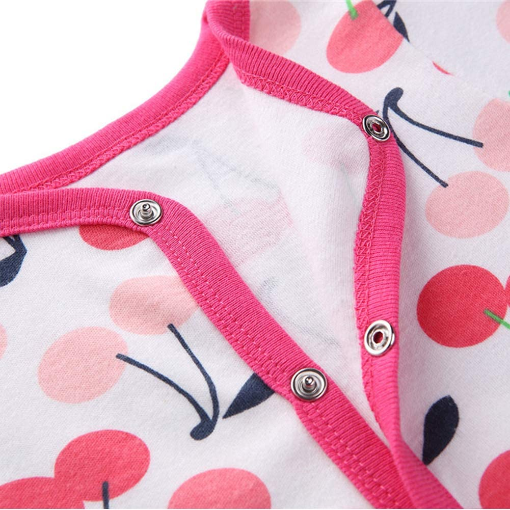 Baby Footed Pajamas Cotton Newborn Infant Cotton Snap Long Sleeve Footie Onesie Sleeper for Boys Girls