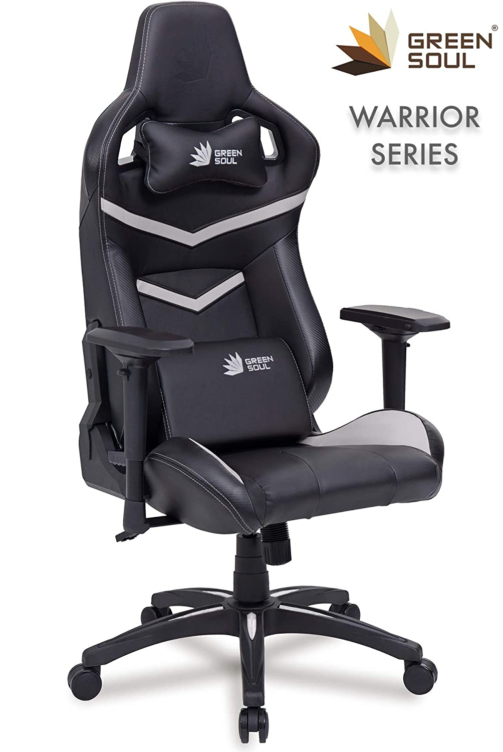 Green Soul Gaming/Office Chair/Black And White PU Leather