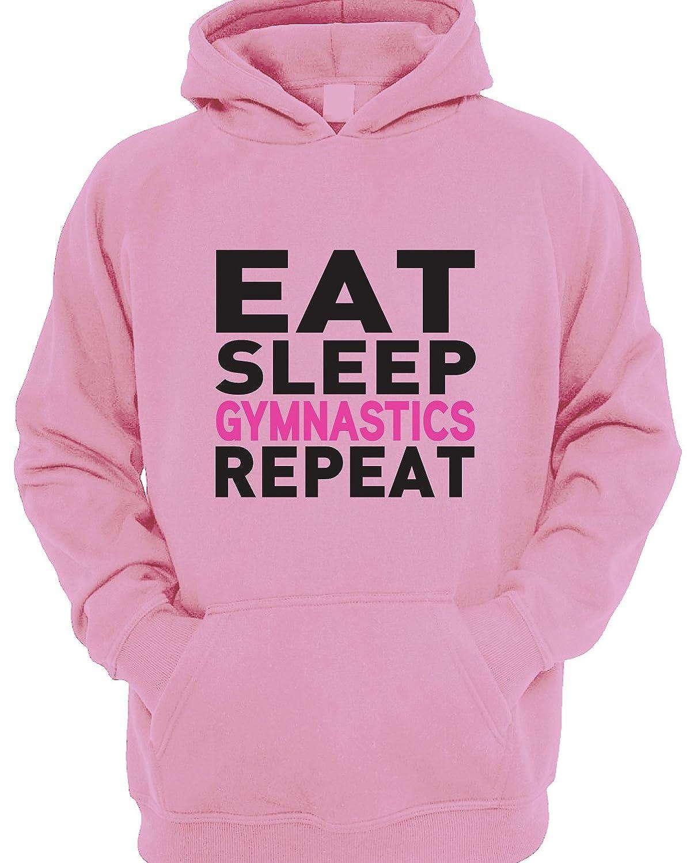 Beyondsome Eat Sleep Flip Repeat Girls Gymnastics Hoody