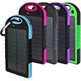 Solar Charger, Powercam, 10,000 mAh, Waterproof, Drop Resistant, Shockproof, for iPhones, iPads, Android, Samsung phones, GPS devices and Cameras (pink)