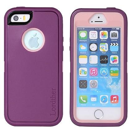 Amazon.com: Funda para iPhone SE, Lordther [serie Shieldon ...