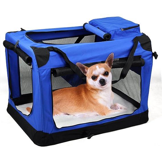 Beyondfashion - Mascota Perro Gato tela suave portátil Carrier plegable de la perrera jaula portador bolsa de cámara: Amazon.es: Productos para mascotas