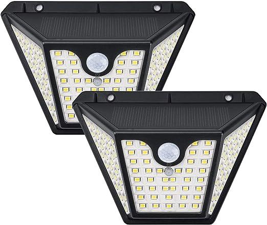 Focos LED Exterior Solares, TASMOR Luces Solares Exterior con Sensor de Movimiento, 3 Modos, 102 LED, 1500LM, IP65 Impermeable Lámparas Solares para Jardin, Garaje, Patio, Piscina (2 Unidades): Amazon.es: Iluminación