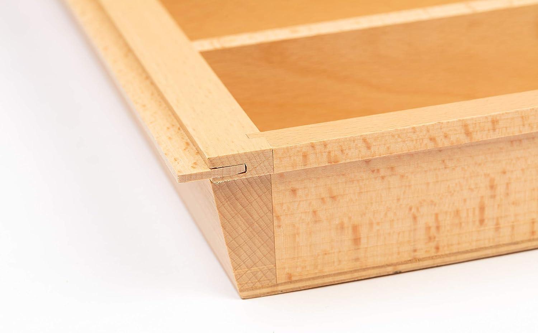 passend f/ür viele Schubladensysteme 473x500x50 mm FSC 600er Korpusbreite S/² Interior Premium Besteckeinsatz BUCHE