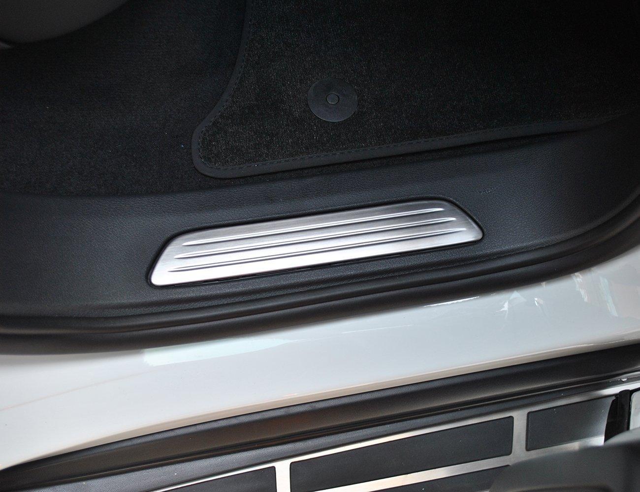 Carbon à accessoires en acier inoxydable plaque de seuil de seuil de porte de protection Décoration Coque Trim Stickers pour Cayenne S Luxuqo