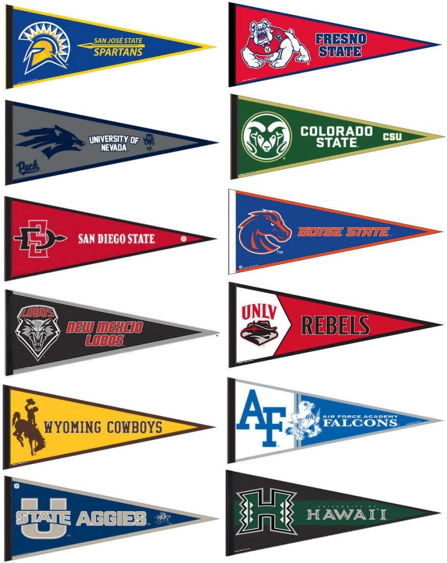 Mountain West Conference College Pennant Set
