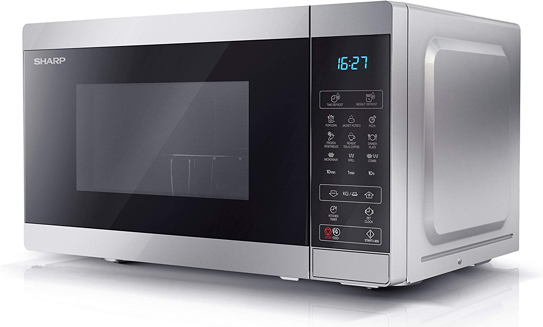 Forno Microonde Combinato 20 Litri Grill 800 Watt colore Inox Sharp YC-MG02ES