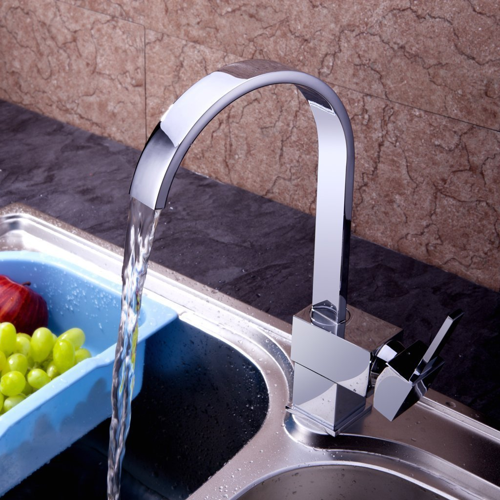 Yodel Modern Kitchen / Wet Bar Sink Faucet, Chrome Finish ...
