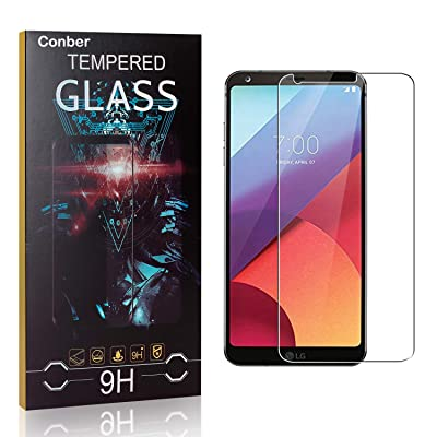 Conber Screen Protector for LG G6, (4 Pack) 9H Tempered Glass Film Screen Protector for LG G6 [Scratch-Resistant][Shatterproof]: Baby