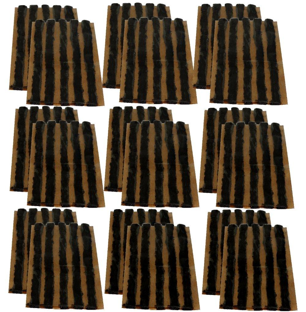 AERZETIX: Lot de 90 mè ches 6mm 10cm Noir pour kit de ré paration de Pneu C40657