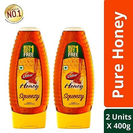 Dabur Honey 400g SquezeePack (Buy 1 Get 1 Free)