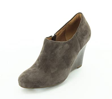 Clarks Womens Grey Suede Boots Purity Frost