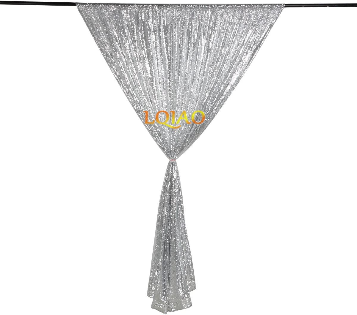 Pocket 7x7FT 210x215cm LQIAO Silver-Sequin Backdrop CURTAIN-7FTx7FT Sequin Photo Backdrop,Photo Booth Background,Sequence Christmas//New Year Backdrop Curtain