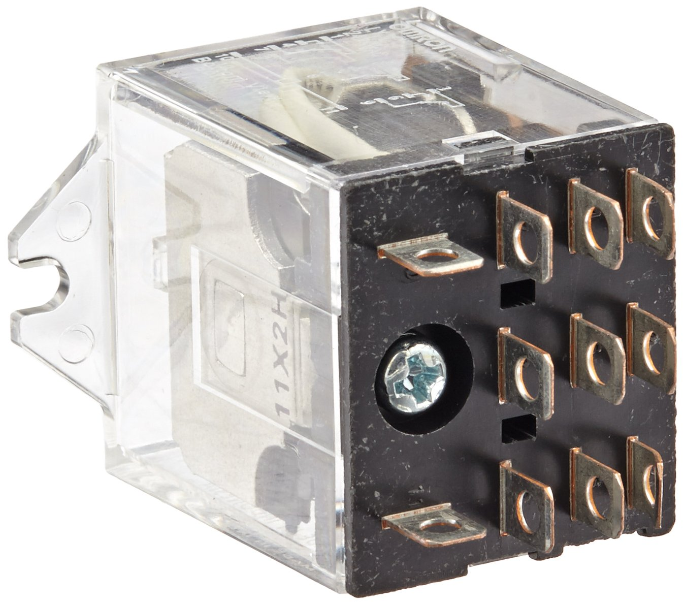 Omron LY3F-AC24 General Purpose Relay, Standard Type, Plug-In/Solder Terminal, Upper Mounting Bracket, Single Contact, Triple Pole Double Throw Contacts, 80 mA at 50 Hz and 67 mA at 60 Hz Rated Load Current, 24 VAC Rated Load Voltage