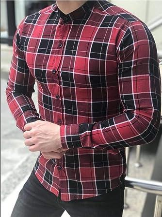DDAdayub Camisa Retro, cárdigan a Cuadros de los Hombres ...
