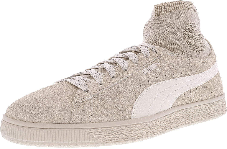 1de6491b Amazon.com | Puma Mens Suede Classic Sock Athletic & Sneakers Beige ...