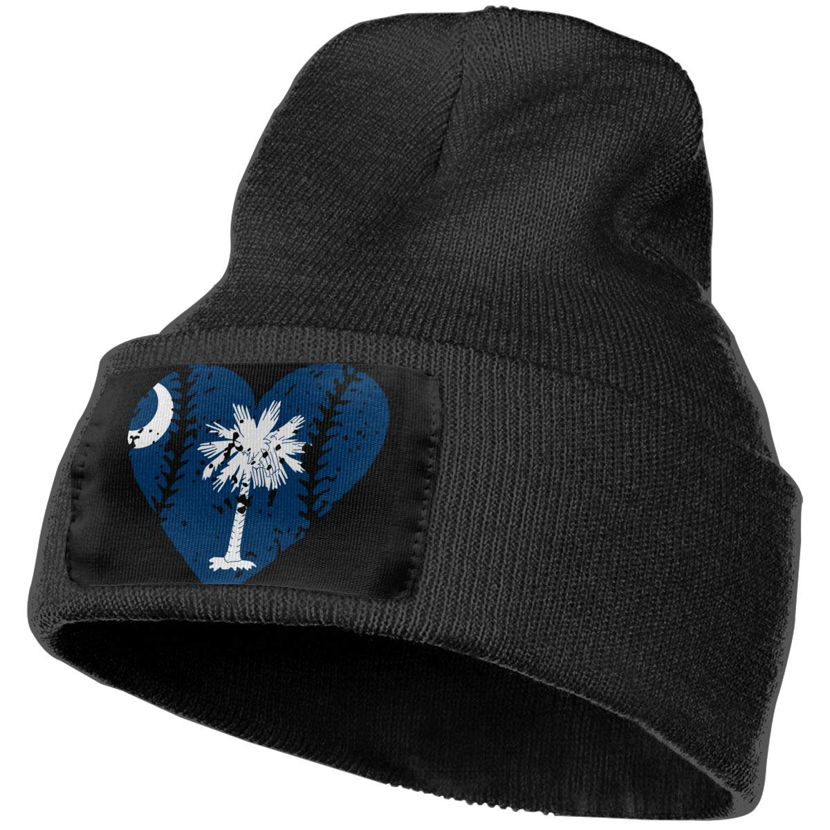 Stretchy /& Soft Winter Ski Skull Caps Baseball Heart South Carolina Flag Unisex Solid Color Knit Beanie Hat