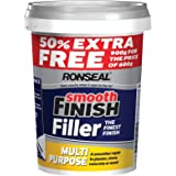 Ronseal 36545 Multi-Purpose Smooth Finish Ready Mixed Wall Filler with 50Percent Extra - White