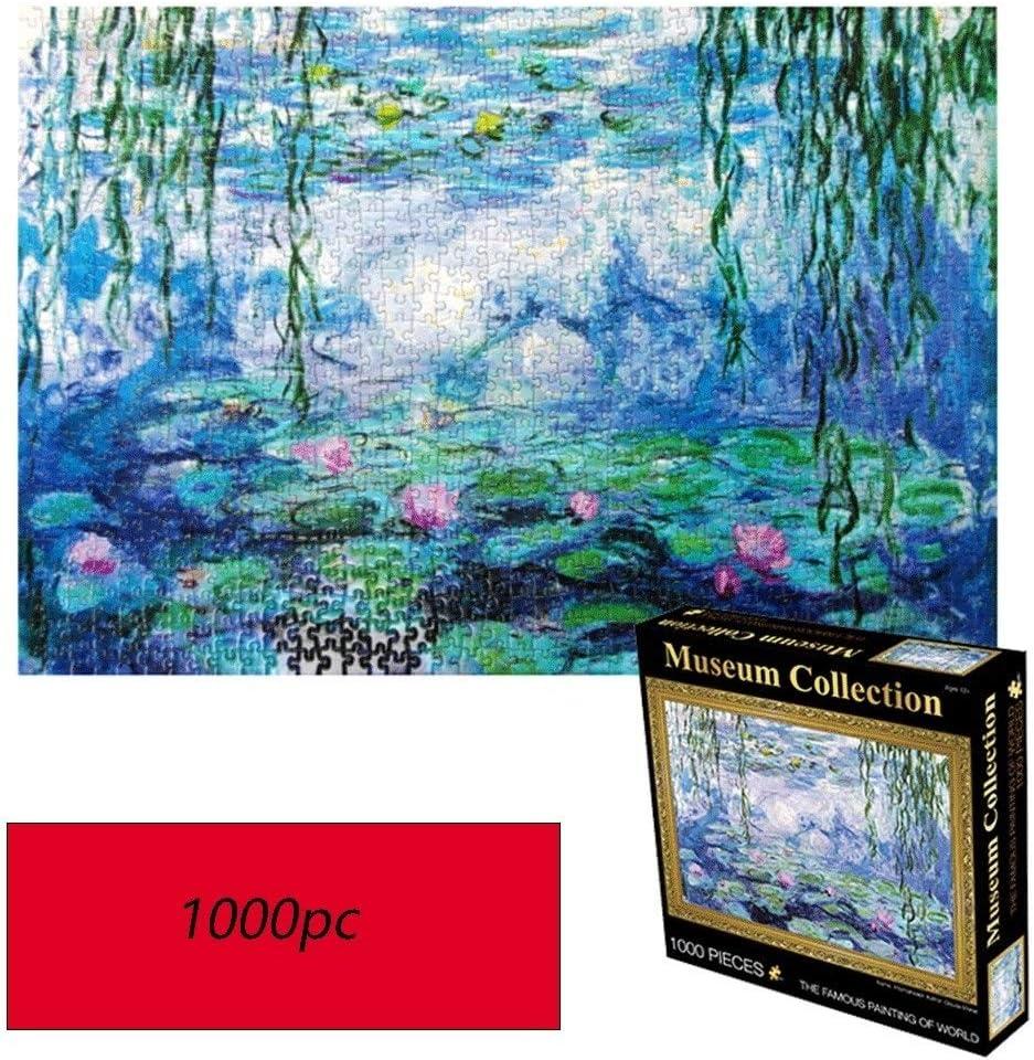 WUJINJ Exquisita romántica Nenúfar Monet, Mundo Famoso Cuadro Puzzle, 1000 Tabletas Piezas Fotografía en Caja de Juguetes, Adultos y niños Rompecabezas Juguete: Amazon.es: Hogar