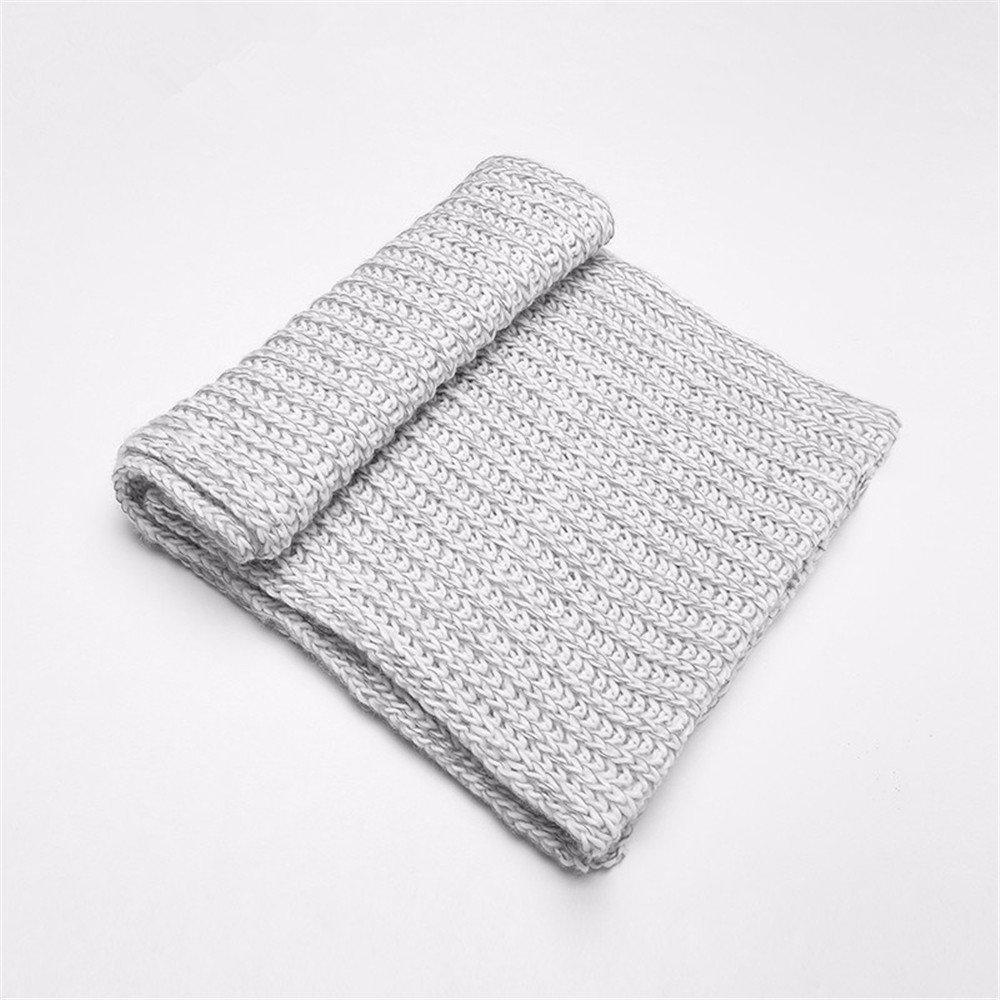 DIDIDD Pañuelo bufanda de punto bufanda de lana y bufanda de lana para hombre y mujer,A
