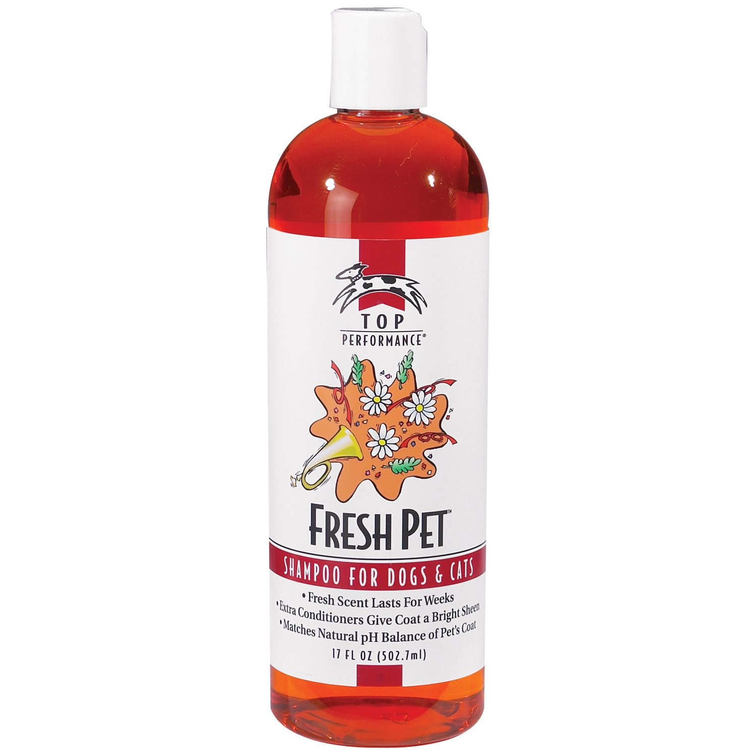 Top Performance Fresh Pet Shampoo Prevents Mats and Tangles - Matches Natural pH Balance of Pet's Coat and Skin, 17 Oz. by Top Performance