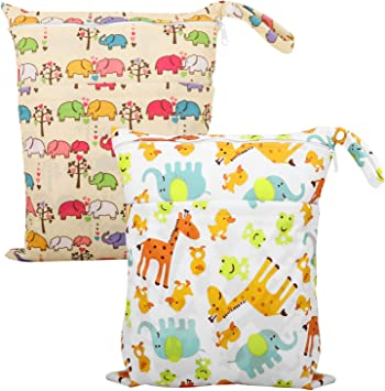 Infant Baby Washable Waterproof Dry Wet Tote Bag Diaper Cloth Zipper