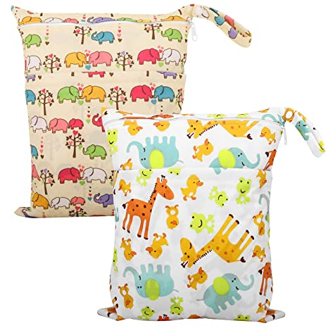Reusable Waterproof Infant Stroller Travel Small Size Zipper Diaper Storage Bag Changing Bags