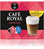 Café Royal Cappuccino Coffee Pods Compatible with The Nescafé Dolce Gusto System, 170.4 g, Pack of 3, 48-Count