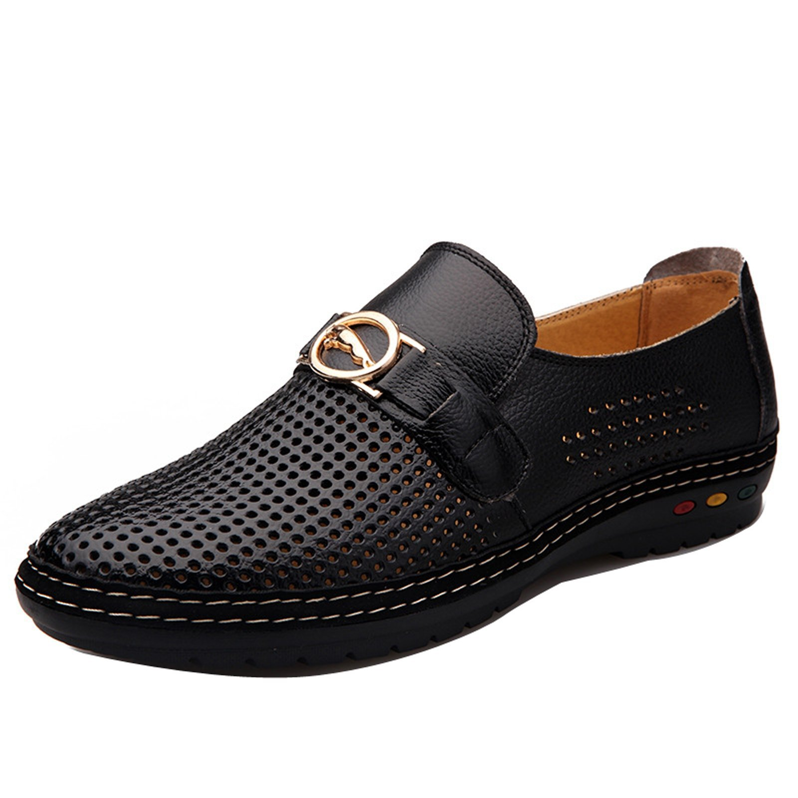 Gaorui Mens Hollow Out Business Dress Formal Leather Shoe Summer Casual Loafers Sandals by Gaorui