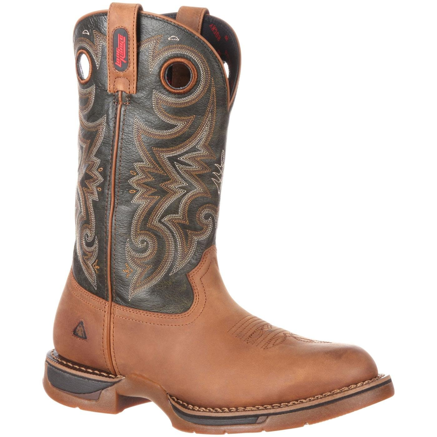 ROCKY Men's RKW0188 Western Boot, Dark Brown, 10 W US by ROCKY
