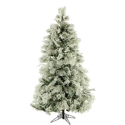 "Fraser Hill Farm FFSN075-0SN Flocked Snowy Pine Artificial Christmas Tree,  7.5"" - Amazon.com: Fraser Hill Farm FFSN075-0SN Flocked Snowy Pine"