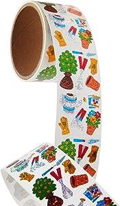 Bulk Roll Prismatic Stickers, Mini Garden - 50 Repeats