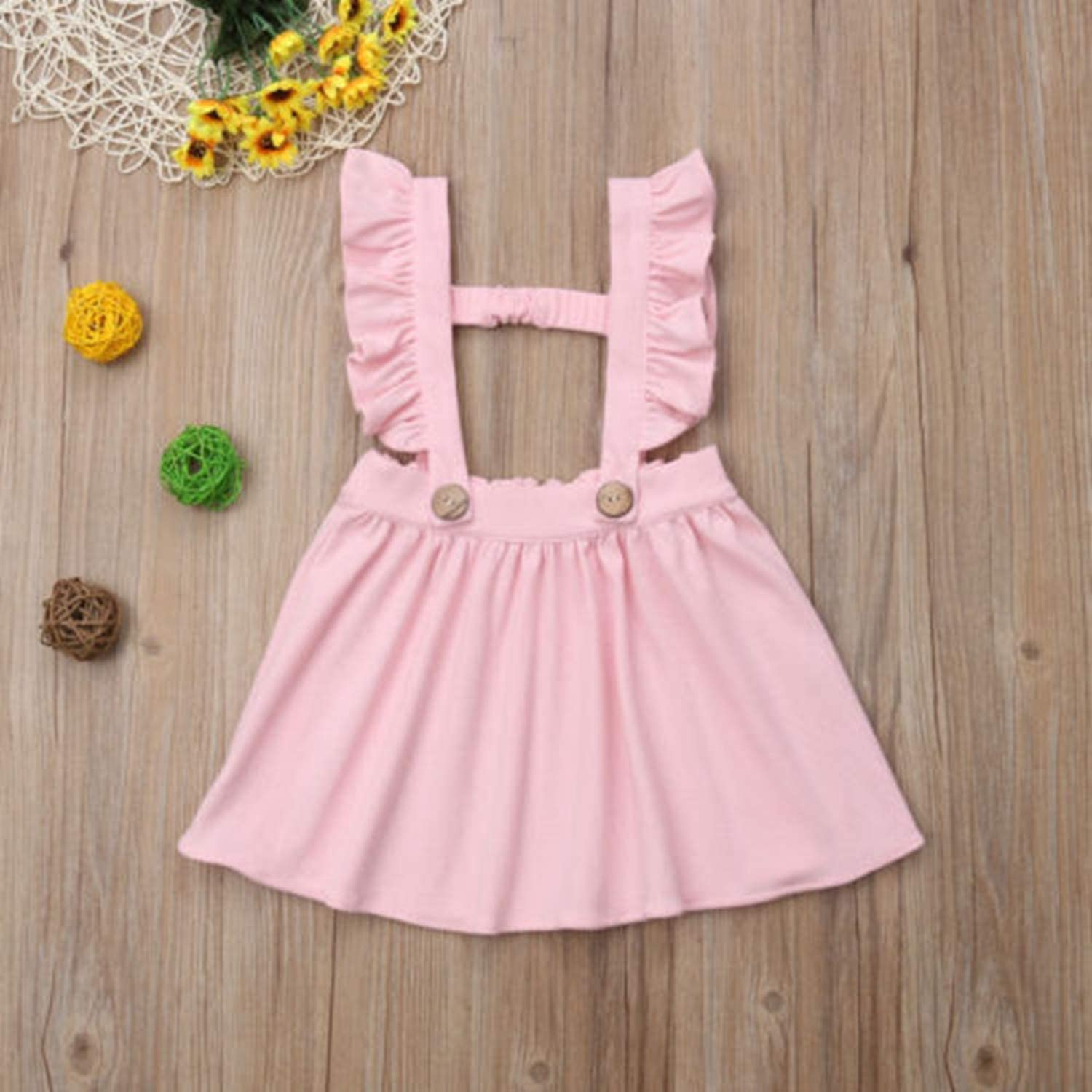 Beancan New Baby Outfit Kids Baby Girls Skirt Casual Cotton Overalls Jumper Suspender Solid Girl Tutu Short Mini Skirts Gray