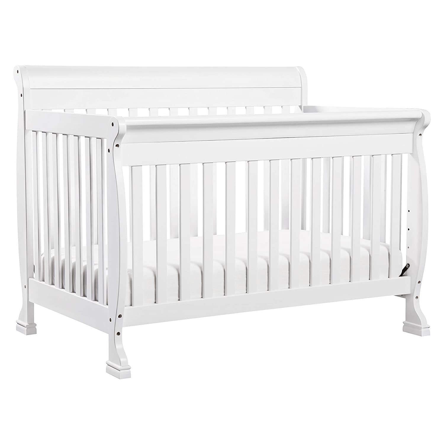 B000FT7NSI DaVinci Kalani 4-in-1 Convertible Crib in White | Greenguard Gold Certified 71bxjgZXZeL