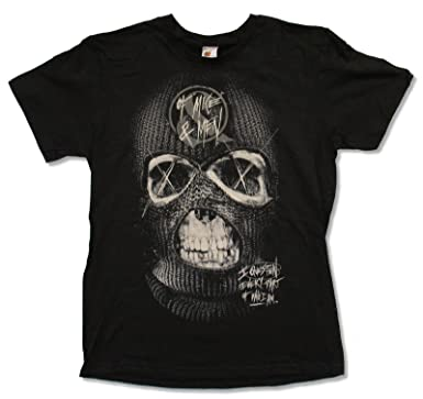 "64347eeb Adult Of Mice & Men ""Ski Mask"" Black Slim Fit T-Shirt. Roll over  image to zoom in. Bay Island Sportswear"