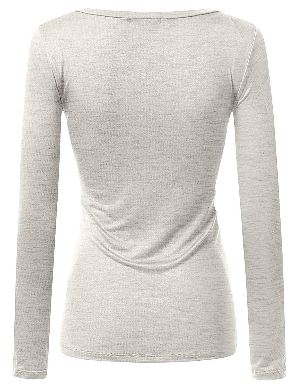 928e1e9a7d0a1e Active Women Basic Solid Plain V-Neck Casual Long Sleeve T Shirt Top,  3PK-Charcoal, Olive, Oatmeal, 2X-Large at Amazon Women's Clothing store: