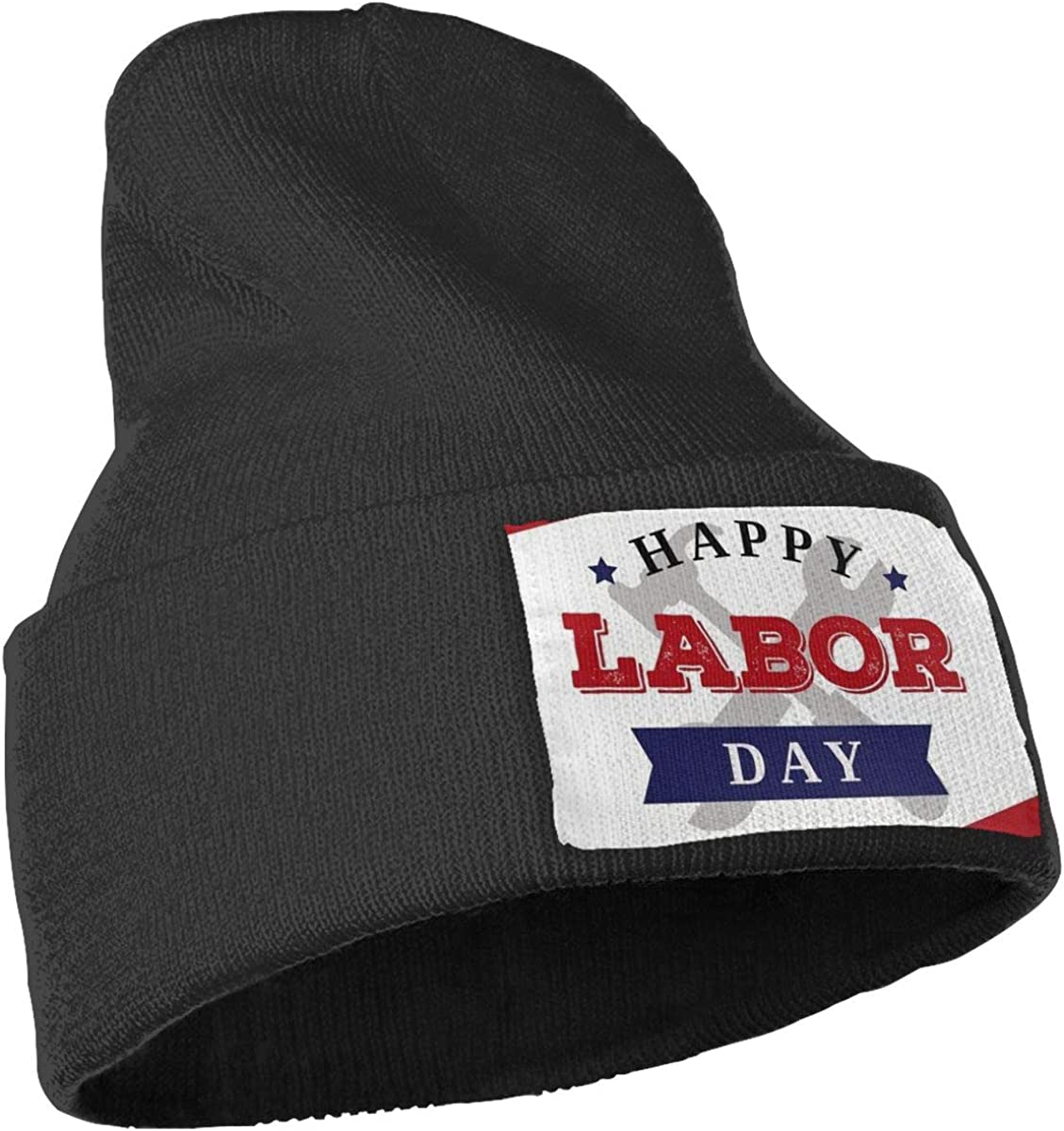 Labor Day Tools and Flag Skull Cap Men /& Women Knitting Hats Stretchy /& Soft Beanie