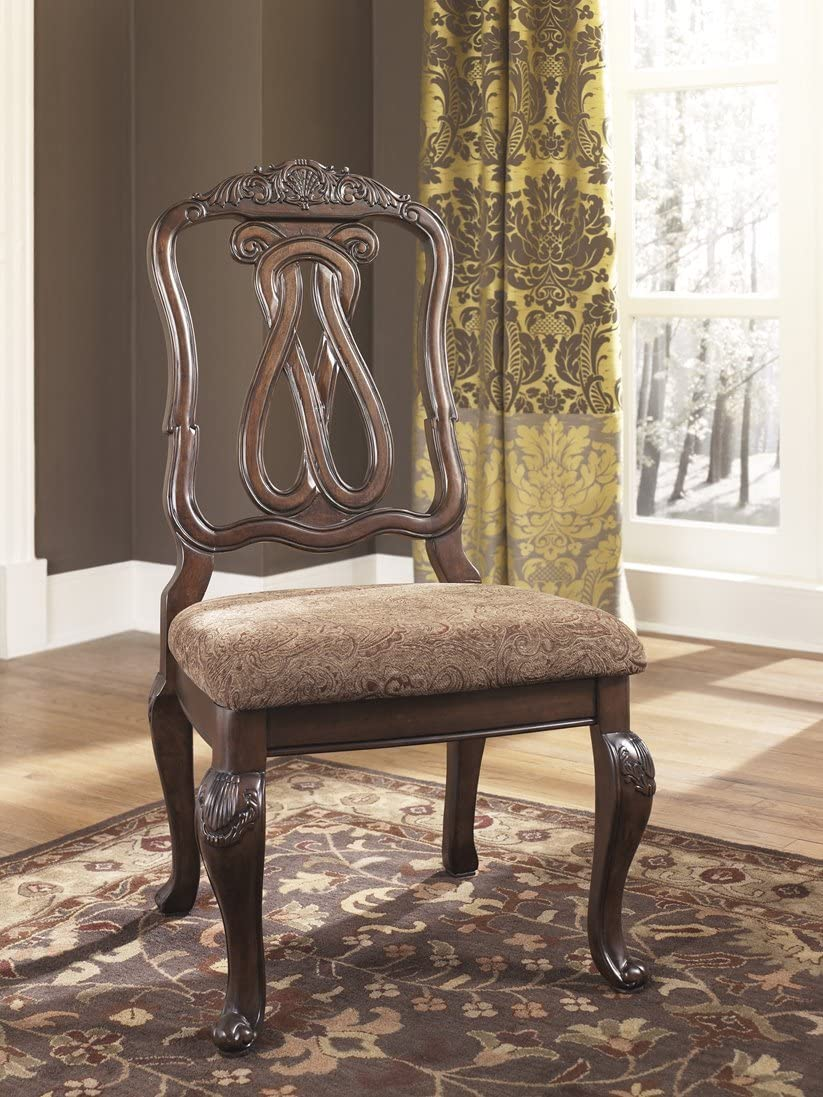 Signature Design by Ashley D553-03 North Shore Dining Chair, Dark Brown