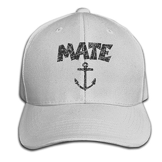 be23ca31d33ea Amazon.com  Mate Nautical Sailing Pure Color Peaked Hat Adjustable ...