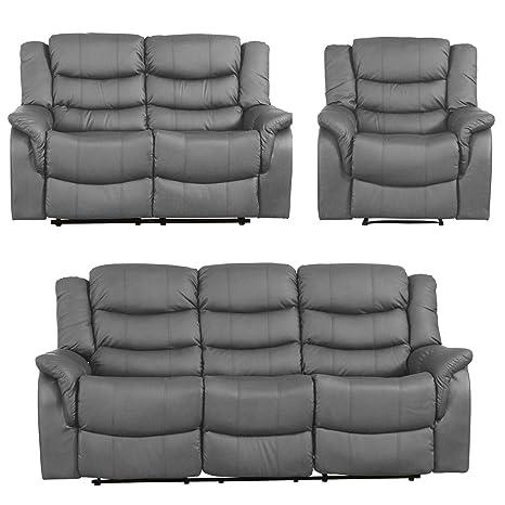 Sofa- Collection Andalucia - Silla reclinable (Piel, 1/2/3 ...