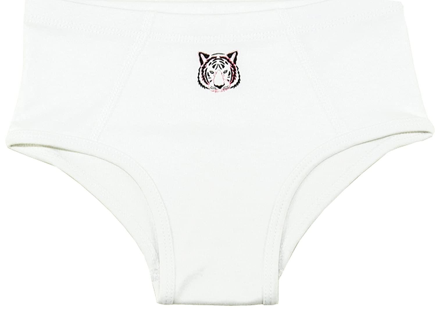 Tiger Print Klever Kids Boys White Brief
