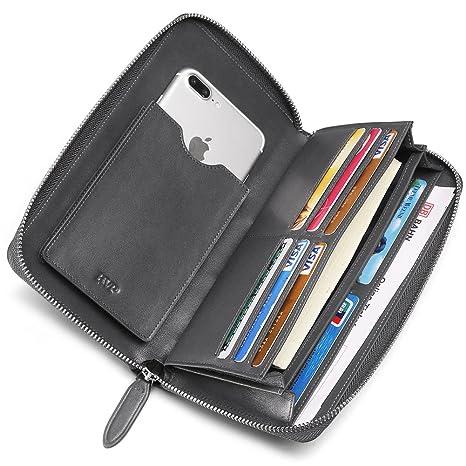 BVP Billetera Larga Gris Monedero de Moda iPhone Cartera ...