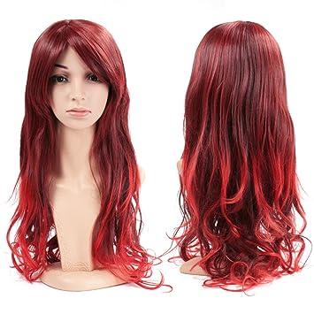 Wendy Reina mujer completa peluca de pelo largo ondulado rizado onda pelucas de cabello resistente al calor para cosplay, fiesta, disfraces, Halloween, ...