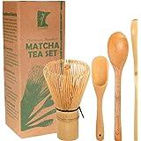 BambooMN Matcha Whisk 套装 - 日本茶具,Chashaku,茶匙 Golden 茶壶 + Chasaku + 茶匙套装 1 件套 6937259167496a