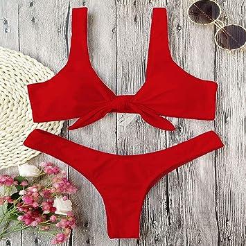 NSYYW Bañador Mujer Tanga Bikini Set Traje de baño Traje de ...