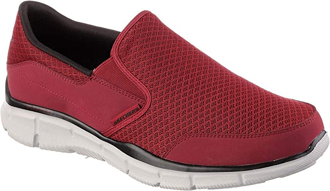 SkechersEqualizer Persistent Sneaker Uomo, Rosso (Rouge