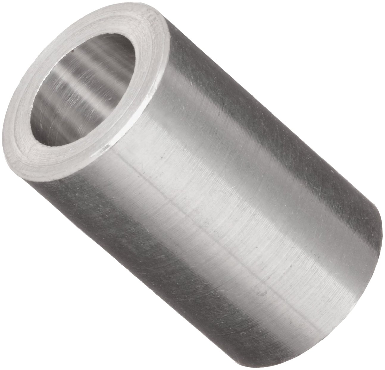 Round Spacer, 2011 Aluminum, Plain Finish, #10 Screw Size, 1/2'' Length (Pack of 25)